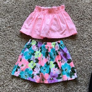 Lot of Carter's size 5T skorts